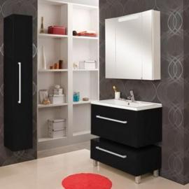 Мебель для ванной Акватон Мадрид 80 черная с ящиком