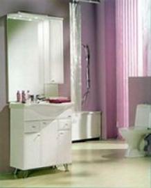 Мебель для ванной Акватон Майами 75 правая