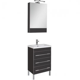 Мебель для ванной Aquanet Верона 58 напольная черная