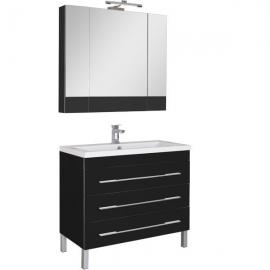 Мебель для ванной Aquanet Верона 100 напольная черная