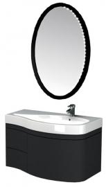 Мебель для ванной Aquanet Сопрано 95 черная с ящиком правая