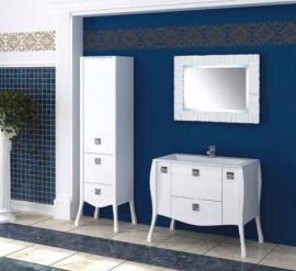 Мебель для ванной Aquanet Мадонна 120 сваровски белая