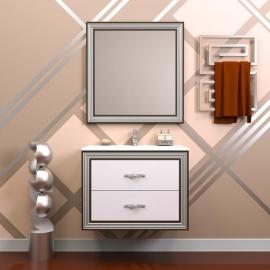 Мебель для ванной Opadiris Карат 80 серебряная патина