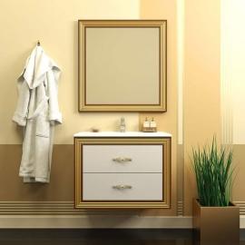 Мебель для ванной Opadiris Карат 80 золотая патина