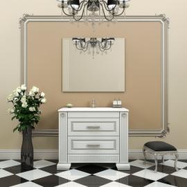 Мебель для ванной Opadiris Оникс 100 белая/серебро