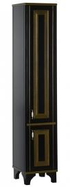 Пенал Aquanet Валенса 40 черный краколет/золото