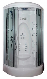 Душевая кабина Aquanet Taiti 110*110 с гидромассажем и баней тонированное стекло