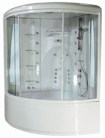 Душевой бокс Aquanet Palau 140*140 с гидромассажем ванны с баней