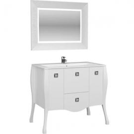 Мебель для ванной Aquanet Мадонна 90 сваровски белая