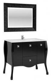 Мебель для ванной Aquanet Мадонна 90 сваровски черная