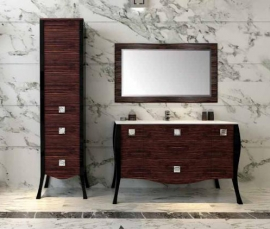 Мебель для ванной Aquanet Мадонна 90 сваровски эбен