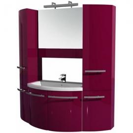 Мебель для ванной Aquanet Римини 80 распашной с 2 пеналами бордо