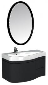 Мебель для ванной Aquanet Сопрано 95 черная с ящиком левая