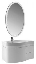 Мебель для ванной Aquanet Сопрано 95 белая с ящиком левая