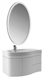 Мебель для ванной Aquanet Сопрано 95 белая распашная левая