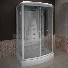 Душевая кабина Radomir Диана-3 140*108 с гидромассажем и баней