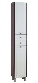 Шкаф-колонна Акватон Альпина венге с бельевой корзиной