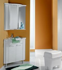 Мебель для ванной Акватон Альтаир 62 угловая белая