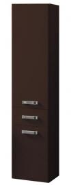 Шкаф-колонна подвесная Акватон Америна тёмно-коричневый
