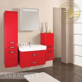 Мебель для ванной Акватон Америна 70 бордовая