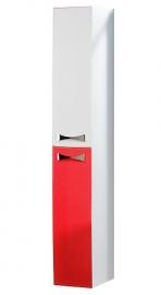 Шкаф-колонна Акватон Диор бело-бордовый