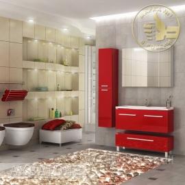 Мебель для ванной Акватон Мадрид 100 бордо с 2 ящиками