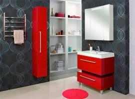 Мебель для ванной Акватон Мадрид 80 бордо с ящиком