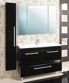 Мебель для ванной Акватон Мадрид 100 черная с 2 ящиками