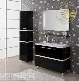 Мебель для ванной Акватон Турин 100 черный с белой панелью