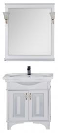 Мебель для ванной Aquanet Валенса 80 белая краколет/серебро