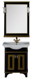 Мебель для ванной Aquanet Валенса 70 черная краколет/золото