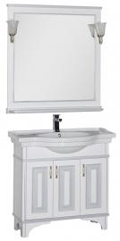 Мебель для ванной Aquanet Валенса 90 белая краколет/серебро