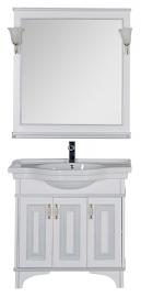 Мебель для ванной Aquanet Валенса 100 белая краколет/серебро
