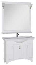 Мебель для ванной Aquanet Валенса 110 белая краколет/серебро