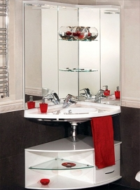Мебель для ванной De Aqua Трио хром правая