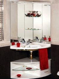 Мебель для ванной De Aqua Трио золото правая