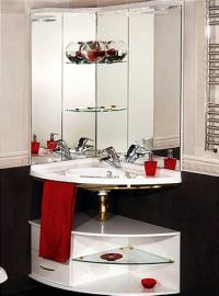 Мебель для ванной De Aqua Трио золото левая
