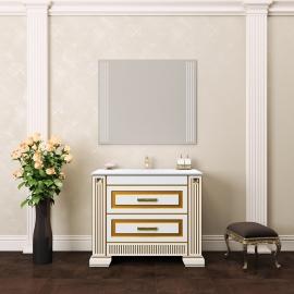Мебель для ванной Opadiris Оникс 100 белая/золото