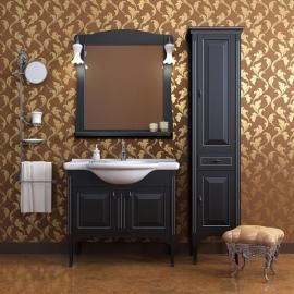 Мебель для ванной Два водолея Равелло 85 черная