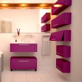 Мебель для ванной De Aqua Квадро-2 80