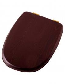 Крышка-сиденье деревянное Cezares King Palace микролифт орех/бронза