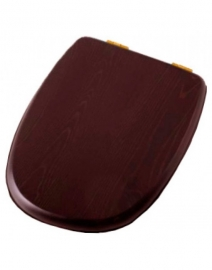 Крышка-сиденье деревянное Cezares King Palace микролифт орех/золото