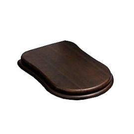 Сиденье для унитаза деревянное Cezares Laredo орех/хром