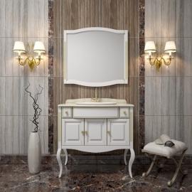 Мебель для ванной Opadiris Лаура 100 белая/патина