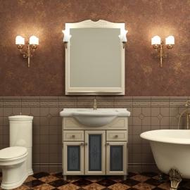 Мебель для ванной Deluxe group Римини 80 слоновая кость
