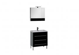 Мебель для ванной Aquanet Верона 75 напольная черная