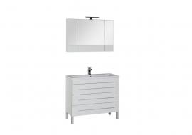 Мебель для ванной Aquanet Верона 100 напольная белая