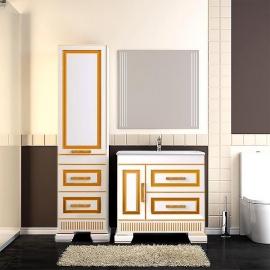 Мебель для ванной Opadiris Оникс 80 белая/золото