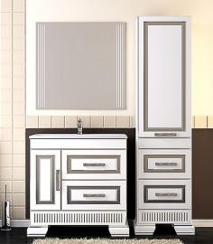 Мебель для ванной Opadiris Оникс 80 белая/серебро