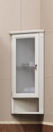Шкаф подвесной Opadiris Клио 32 угловой белый левый
